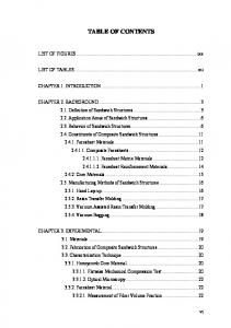 TABLE OF CONTENTS. LIST OF FIGURES...ixx. LIST OF TABLES...xii CHAPTER 1. INTRODUCTION... 1
