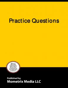 Table of Contents Practice Test... 3 Practice Questions... 3 Answers and Explanations... 35