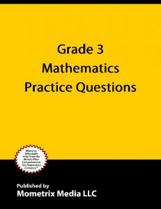 Table of Contents Practice Test... 3 Practice Questions... 3 Answers and Explanations