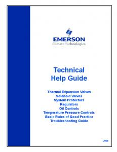 Table of Contents Thermal Expansion Valves Solenoid Valves System Protectors