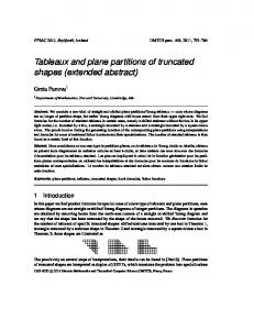 Tableaux and plane partitions of truncated shapes (extended abstract)