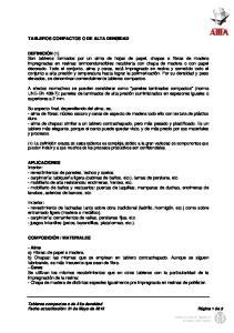 TABLEROS COMPACTOS O DE ALTA DENSIDAD