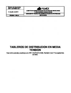 TABLEROS DE DISTRIBUCION EN MEDIA TENSION