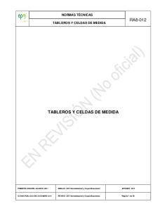 TABLEROS Y CELDAS DE MEDIDA