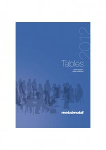 Tables. Table bases & tops collection