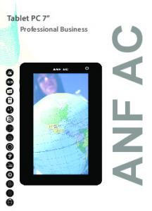 Tablet PC 7. Professional Business ANF AC