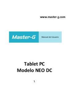 Tablet PC Modelo NEO DC