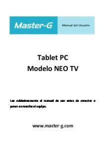Tablet PC Modelo NEO TV