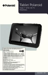 Tablet Polaroid Tablet 7 ATSC HD TV PMID704G