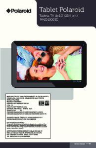 Tablet Polaroid Tableta TV de 10 (25.4 cm) PMID1000SC