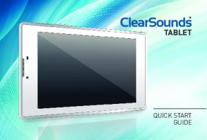 TABLET QUICK START GUIDE