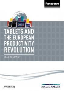 TABLETS AND THE EUROPEAN PRODUCTIVITY REVOLUTION EXECUTIVE SUMMARY
