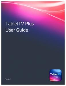 TabletTV Plus User Guide
