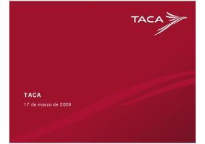 TACA. 17 de marzo de 2009