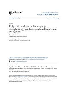 Tachycardia mediated cardiomyopathy: pathophysiology, mechanisms, clinical features and management
