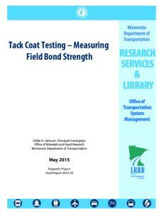 Tack Coat Testing Measuring Field Bond Strength