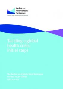 Tackling a global health crisis: initial steps
