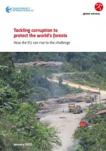 Tackling corruption to protect the world s forests