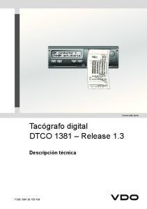 Tacógrafo digital DTCO 1381 Release 1.3