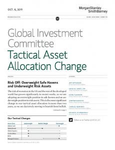 Tactical Asset Allocation Change