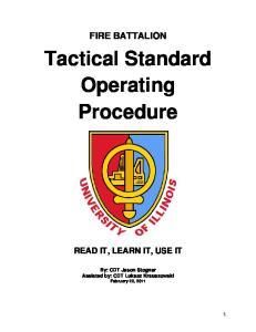 Tactical Standard Operating Procedure