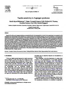 Tactile sensitivity in Asperger syndrome