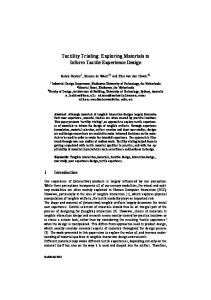 Tactility Trialing: Exploring Materials to Inform Tactile Experience Design