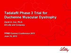 Tadalafil Phase 3 Trial for Duchenne Muscular Dystrophy