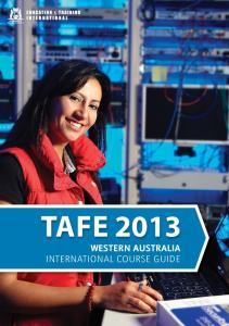 TAFE 2013 WESTERN AUSTRALIA