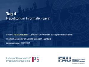 Tag 4 Repetitorium Informatik (Java)