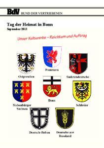 Tag der Heimat in Bonn