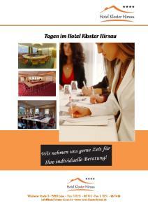 Tagen im Hotel Kloster Hirsau