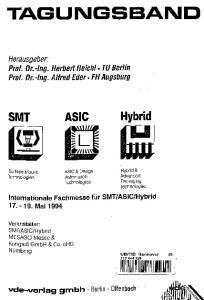 TAGUIMGSBAIMD. Hybrid SMT. Herausgeber: Prof. Dr.-Ing. Herbert Reichl * TU Berlin Prof. Dr.-Ing. Alfred Eder. FH Augsburg