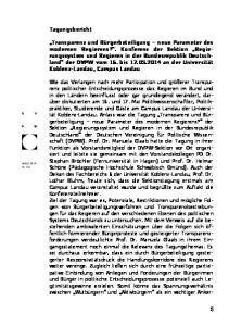 Tagungsbericht. Herbst 2014 Nr. 151