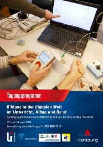 Tagungsprogramm Bildung in der digitalen Welt im Unterricht, Alltag und Beruf