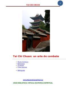 Tai Chi Chuan: un arte de combate