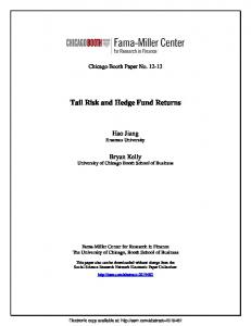 Tail Risk and Hedge Fund Returns