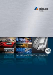 TAILOR MADE SPECIAL PROFILES