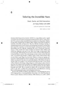 Tailoring the Incredible Years