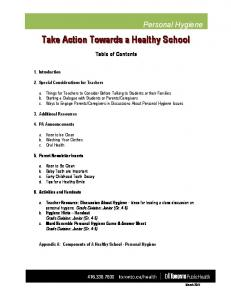 Take Action Towards a Healthy School