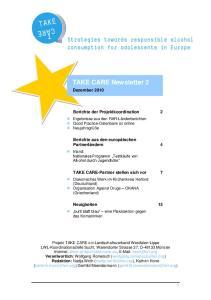 TAKE CARE Newsletter 2