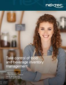 Take control of food and beverage inventory management