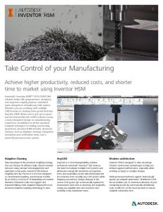 Take Control of your Manufacturing
