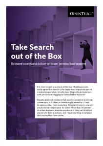 Take Search out of the Box