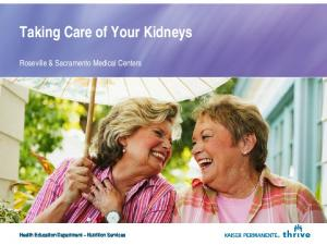 Taking Care of Your Kidneys