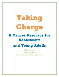 Taking Charge A Cancer Resource for Adolescents and Young Adults