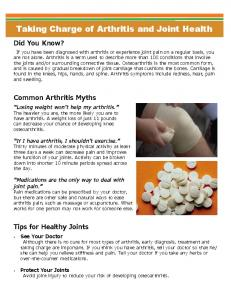 Taking Charge of Arthritis and Joint Health