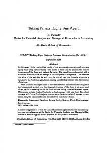 Taking Private Equity Fees Apart