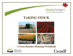 TAKING STOCK. A Farm Business Planning Workbook
