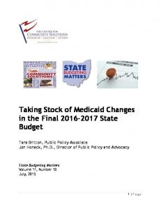 Taking Stock of Medicaid Changes in the Final State Budget